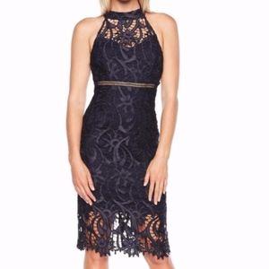 NEW Bardot Isa Lace Halter Dress - Size US 6/S